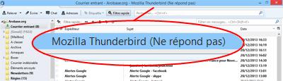 Thunderbird ne répond pas
