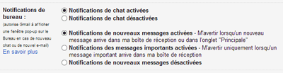 Notifications de bureau