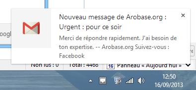Notification Gmail
