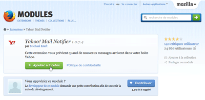 Installer Yahoo! Mail Notifier