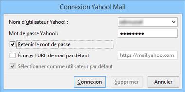 Paramètres du compte Yahoo! Mail