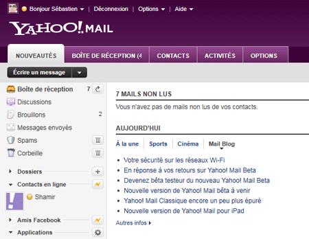 Nouveautés Yahoo! Mail