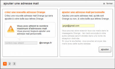 Ajouter une adresse mail