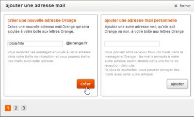 Créer une nouvelle adresse Orange