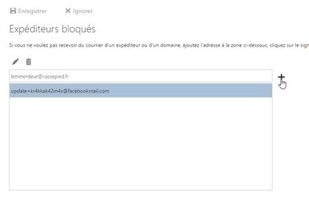 Outlook.com - expéditeur bloqué