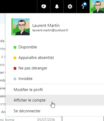 Profil Outlook.com