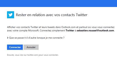 Relation avec Twitter