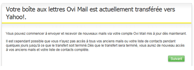 Ovi Mail Yahoo