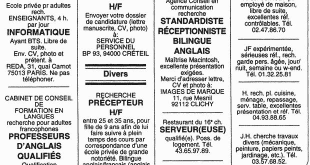 image Petites annonces tres speciales 1983
