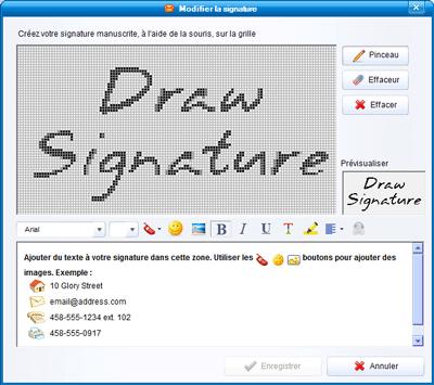 Modifier la signature