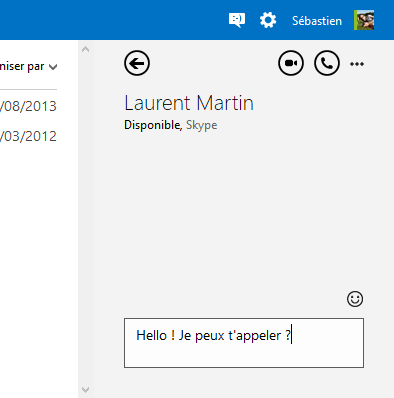 Contact Skype