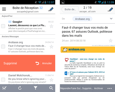SolMail pour Android