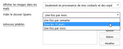 Paramétrage antispam Yahoo! Mail