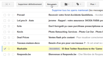 Signaler comme Non-spam