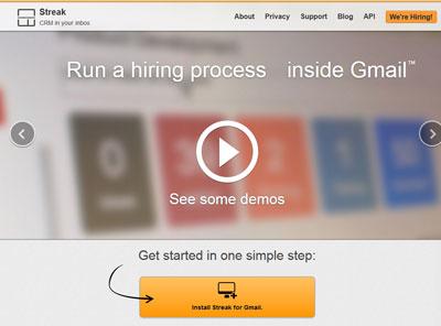 Install Streak for Gmail