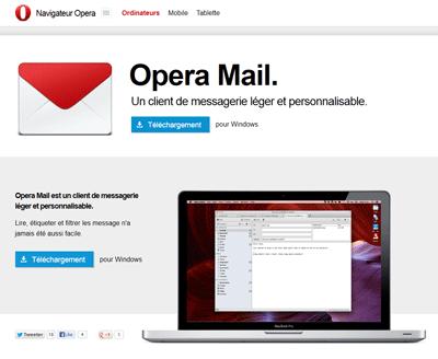 Téléchargement Opera Mail