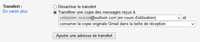 Option de transfert