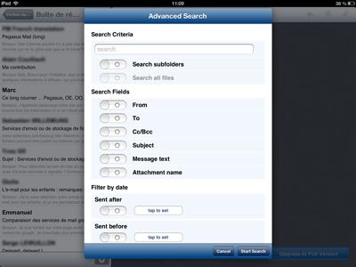 Pst Mail pour iPhone et iPad