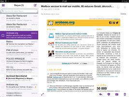 Yahoo Mail pour iPad