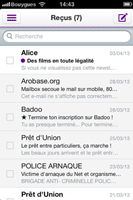 Yahoo Mail pour iPhone
