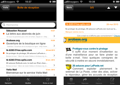 Voila Mail pour iOS
