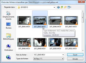 Sélection fichier