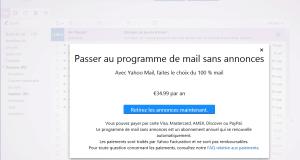 Yahoo Mail sans publicité
