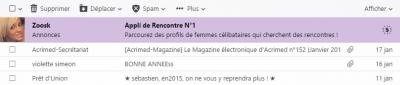 Publicité dans Yahoo Mail