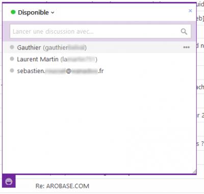 Fenêtre Yahoo Messenger