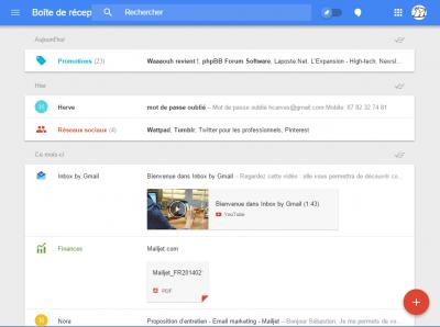 La version Web d'Inbox