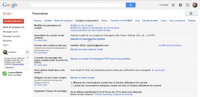 Gmail - import d'un compte