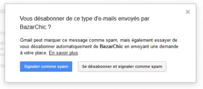 Se désabonner et signaler comme spam