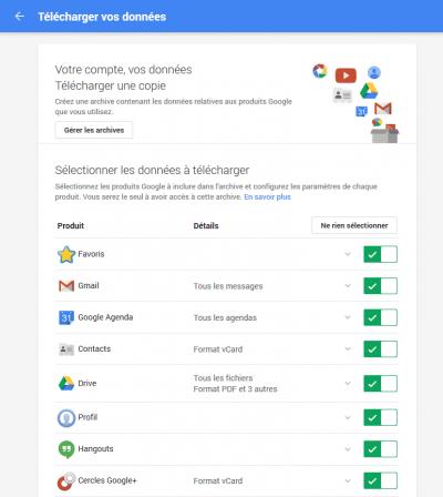 Produits et services Google