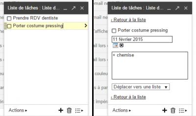 Gmail - nouvelle tâche