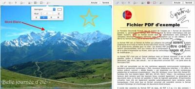 PDF et image annotés