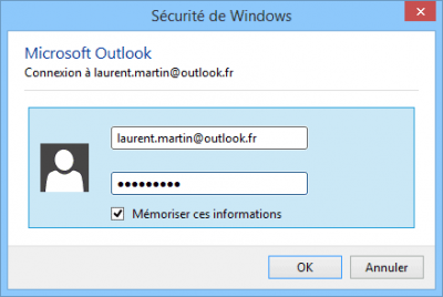 Mot de passe Outlook.com