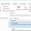Outlook - rubans