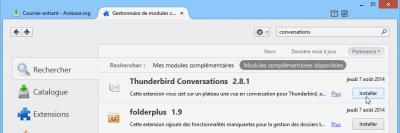 Installer le module Thunderbird Conversations