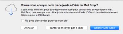 Utiliser Mail Drop