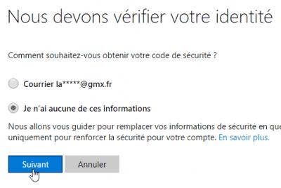 Récupérer votre compte Outlook.com