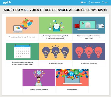 Fermeture Voila Mail