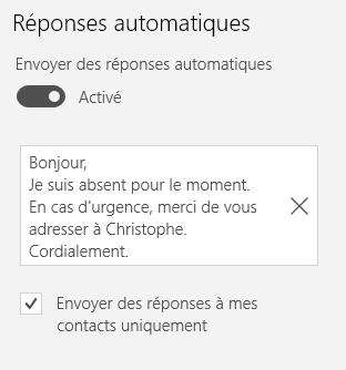 Réponses automatiques