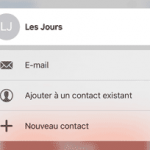 Ajout contact - Quick actions iOS 9