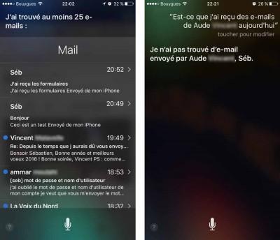 Siri - Lecture des e-mails