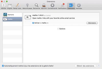 Gmail par défaut - Safari