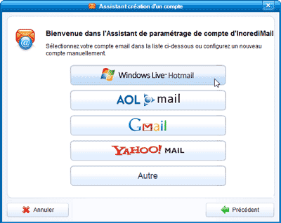 Ajout compte Windows Live Mail