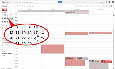 Période - Google agenda