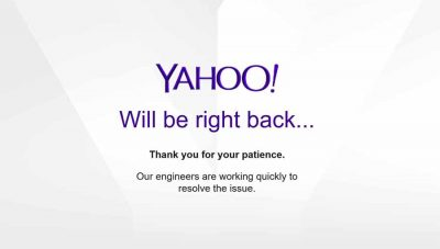 Yahoo will be right back