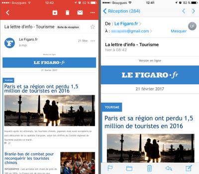 Gmail - Mail : l'affichage des messages