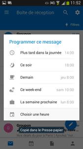 Programmer un message